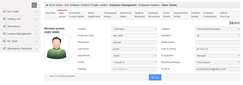 Online Portal Of Employee